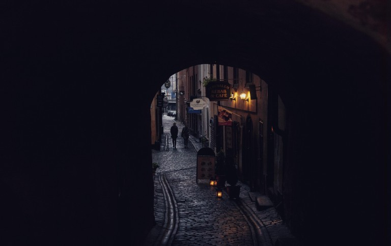 On the streets of old Stockholm